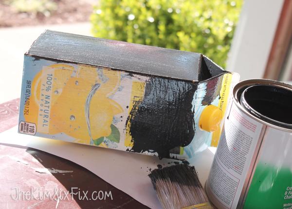 Painting milk carton