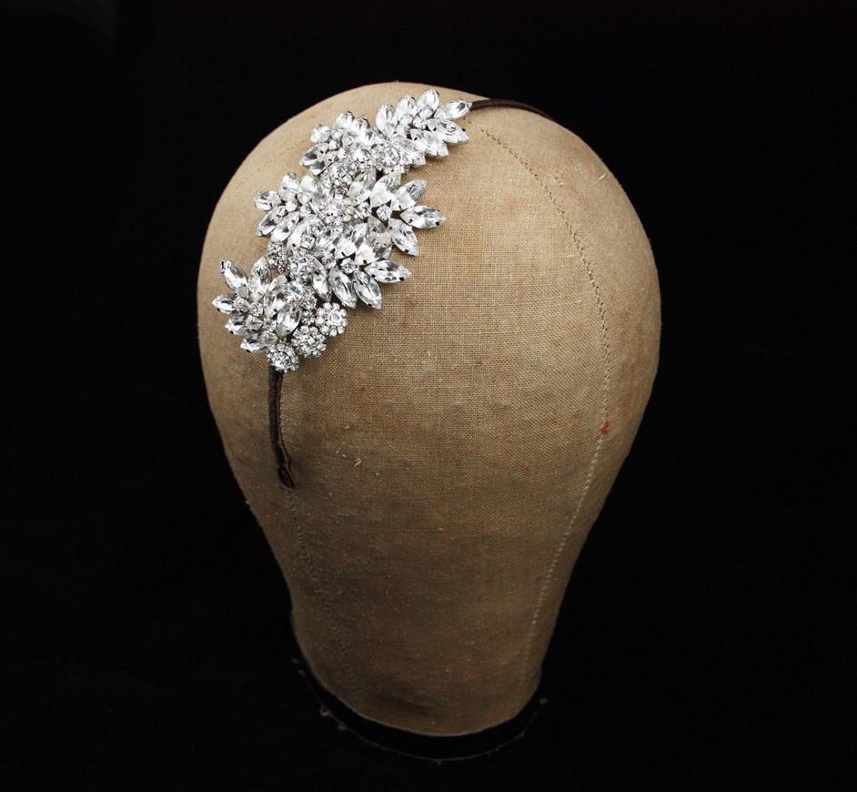 Pearl vintage wedding headband