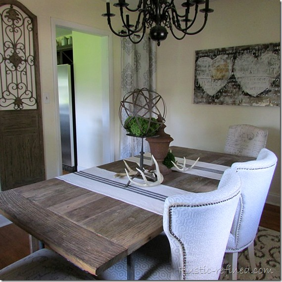 Industrial Decor and Furniture in the Dining Room