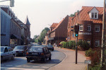 Modern town Center in Zeven, Niedersachsen, near Bremen, Germany.