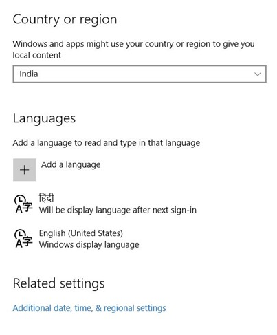 windows 10 hindi language pack