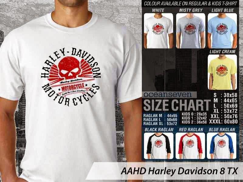 Kaos Motor Harley Davidson 8 distro ocean seven