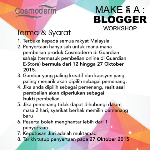 terma dan syarat Contest Make Me a Bloggerl with Guardian