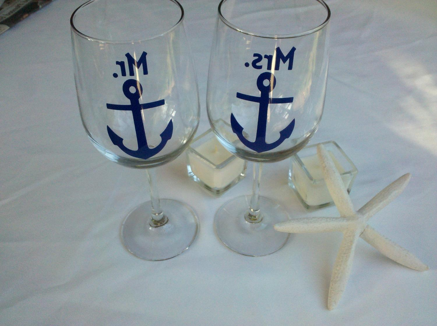 Mr. and Mrs. boat anchor wine