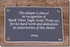 Eagle scout dedication plaque