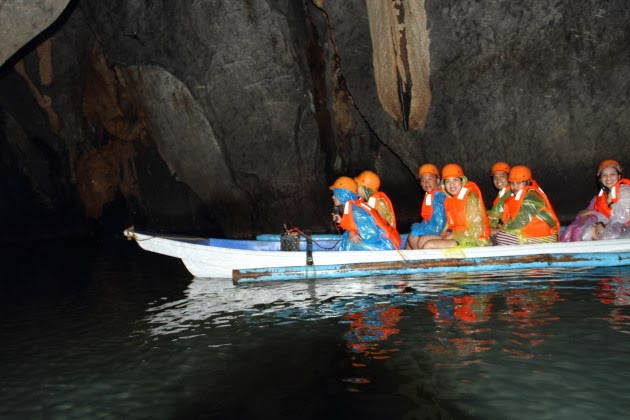 Inside the underground river of Sabang, Philippines
