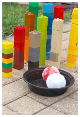 Lego-Ice-Bowling-Setup