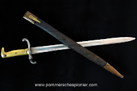 Prussian bayomet 1871 with leather scabbard