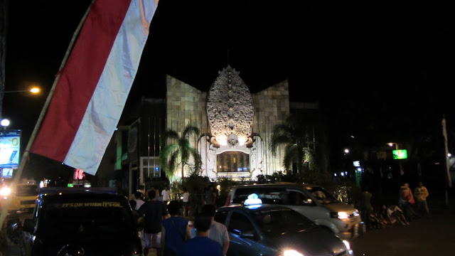 The Bali Bombing Memorial, occupying the same busy street corner as one of the nightclubs bombed in 2002.