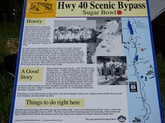 Scenic Highway 40 sign