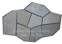22x33 Tahitian Pearl Flagstone Pattern On Mesh