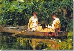 Francis Coates Jones (1857-1932) Women in a Rowboat