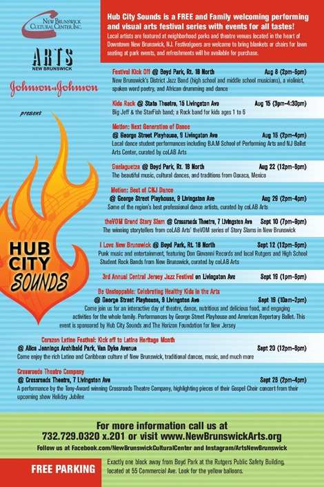 Hub City Sounds Flyer (English)