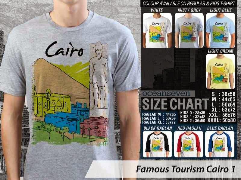 Kaos Wisata Cairo 1 Mesir distro ocean seven