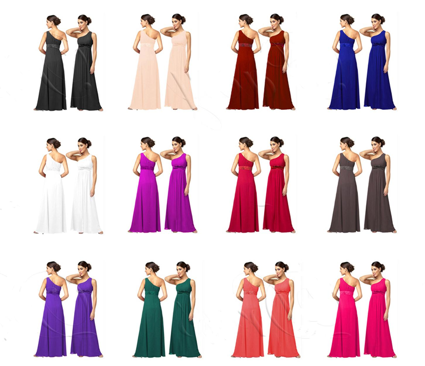 Cadbury Purple Chiffon Evening Wedding Party Dress UK   eBay