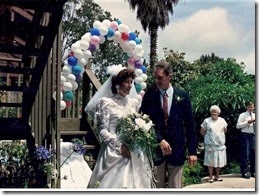Norm walks me down the isle