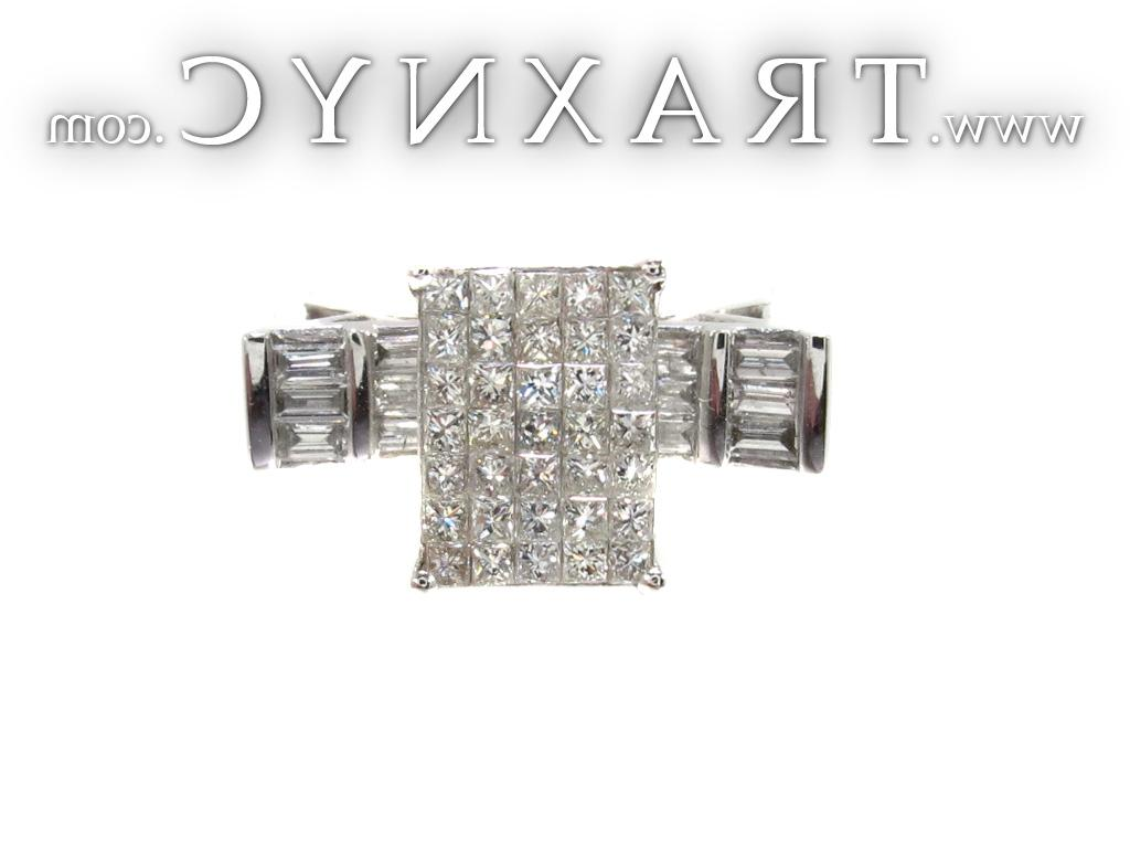 Full Size Picture for Ladies Princess Baguette Cut Diamond Ring 20647