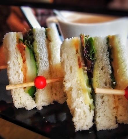 Humus and Cucumber Sandwich