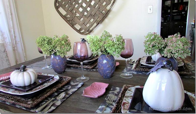 Farmhouse Autumn Table Setting