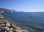 The beach in Itea, Greece