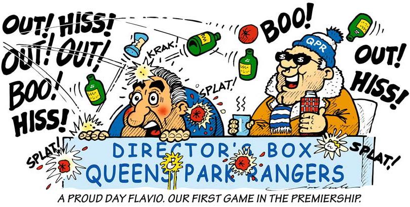 комикс Jim Bamber про футбольный клуб Queens Park Rangers