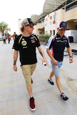 Кими Райкконен и Вальтери Боттас шагают в ногу на Гран-при Бахрейна 2012