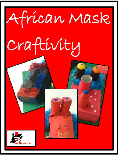 Guide to help you create African masks using paper mache and recycled materials. Free download from Raki's Rad Resources.