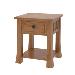 Edmonton Nightstand with Shelf
