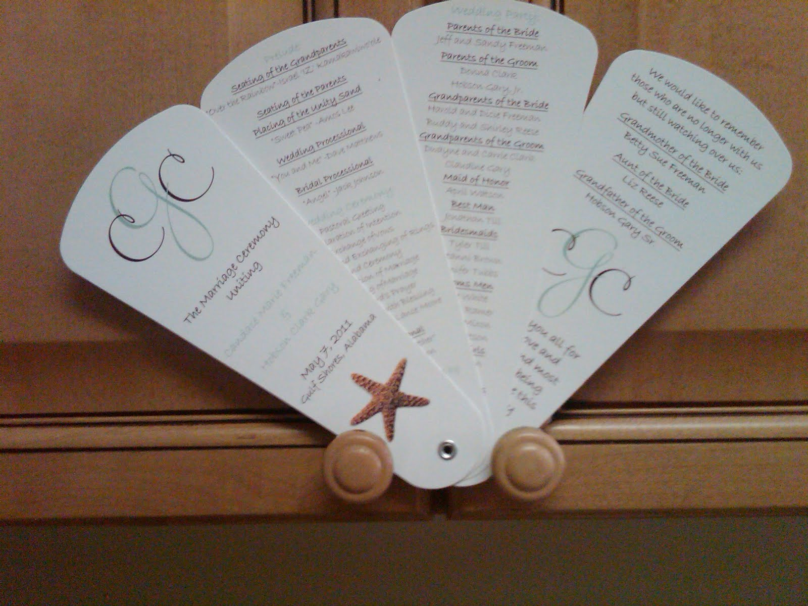 fan wedding invitations