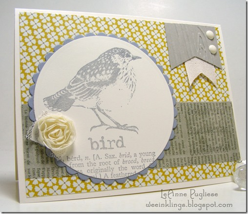 LeAnne Pugliese WeeInklings RedLead Bird Birthday