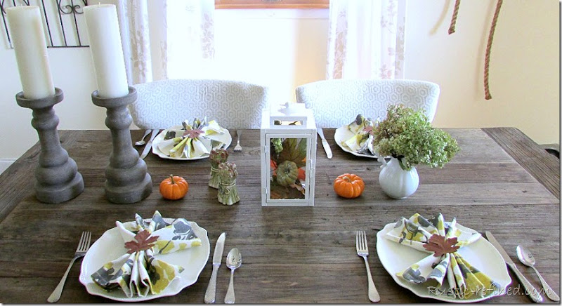 Autumn Fall Tablescape for any Home