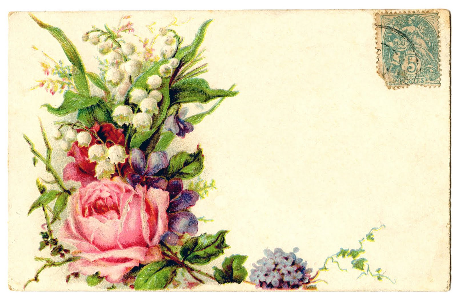 Vintage Clip Art - Card with