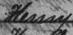 Snippet of a name that was indexed as Kerry
