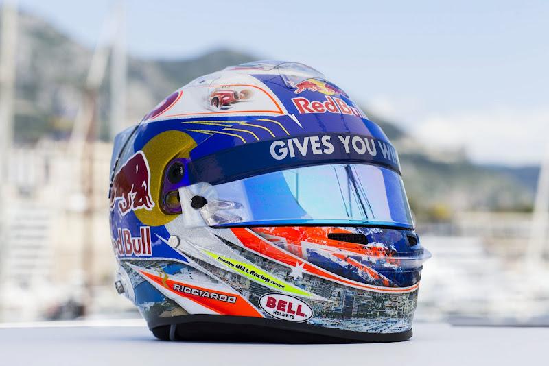 шлем Даниэля Риккардо для Гран-при Монако 2013
