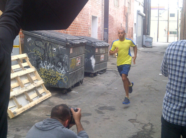 Льюис Хэмилтон в съемках для Reebok в Лос-Анджелесе