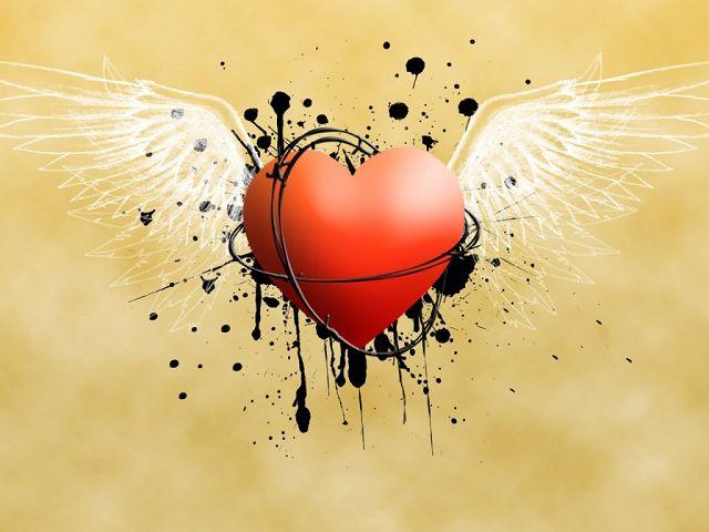 descargar imagenes de corazones con alas y frases  - Imagenes Corazones Con Alas