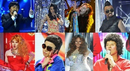 Jolina as Manny Pacquiao, Edgar Allan as Toni Gonzaga, Tutti Caringal as Steven Tyler, Nyoy Volante as Apl.de.ap, Melai as Cyndi Lauper, Maxene as Vhong Navarro, Karla as Mariah Carey, Jay-R as Tom Jones