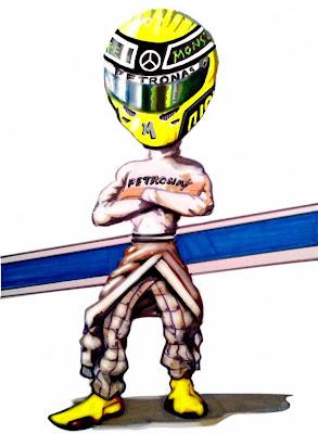 иллюстрация Нико Росберга в сезоне 2011 от Kevin Paige Art