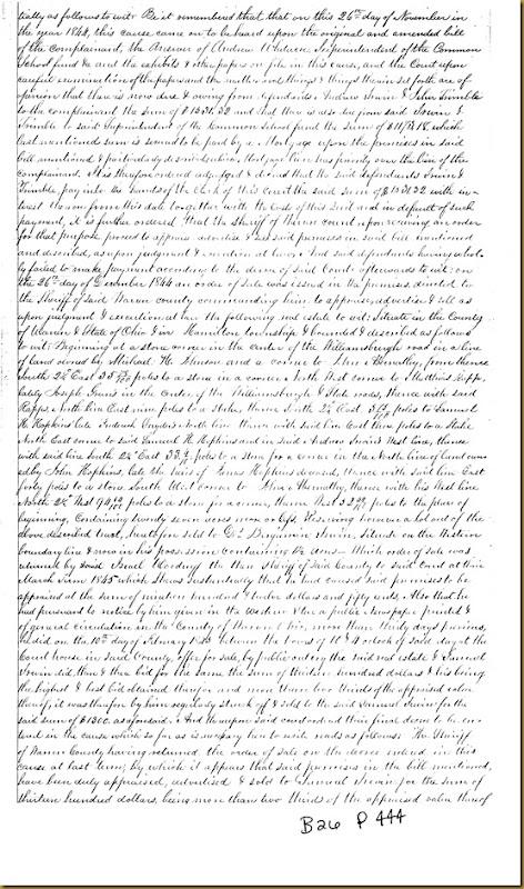 Israel Woodruff conveys land to Samuel Irwin of Warren County, Ohio 1845 1