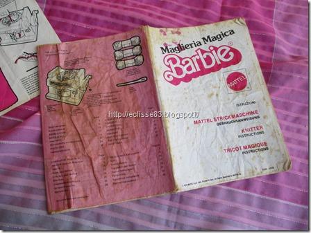 Maglieria Magica Barbie istruzioni libretto