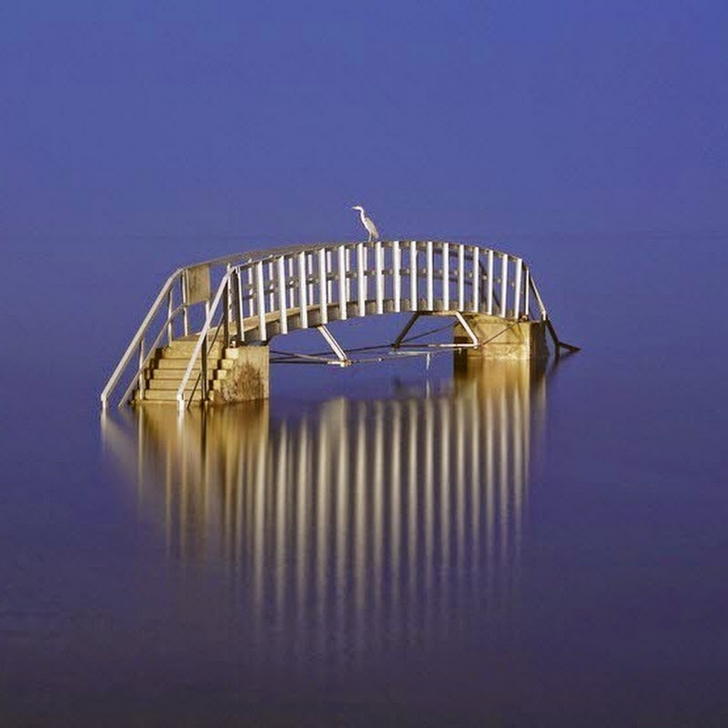The Submerged Bridge Over Biel Water in Belhaven Bay