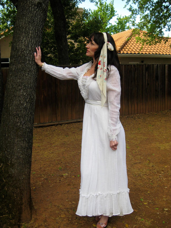 Vintage Gunne Sax summer solstice wedding maxi dress. From SoulTara