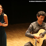 ... sentimiento... Erika Escribá, Josué Tacoronte en el Palau de la Música de Valencia durante las XII Jornadas Internacionales de Guitarra de Valencia