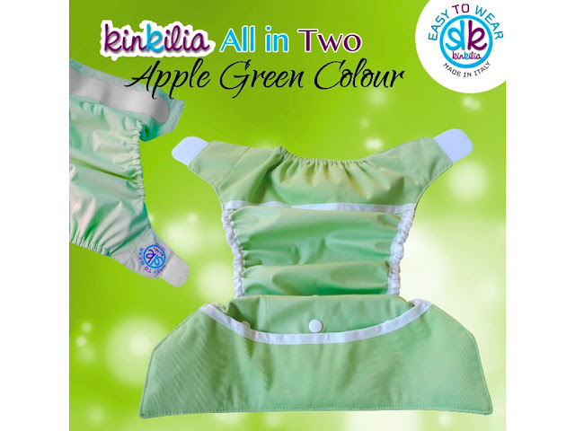 Pannolini lavabili All in 2 kit Green