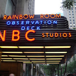NBC studios entrance in New York City, New York, United States