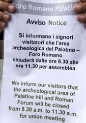 Avviso chiusura Colosseo