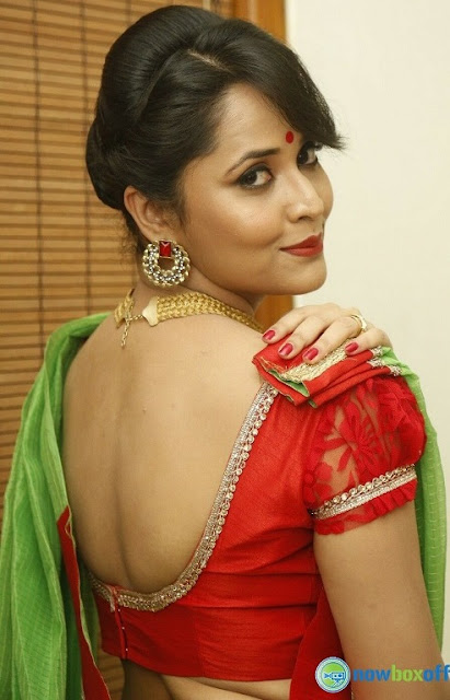 Anasuya saree back