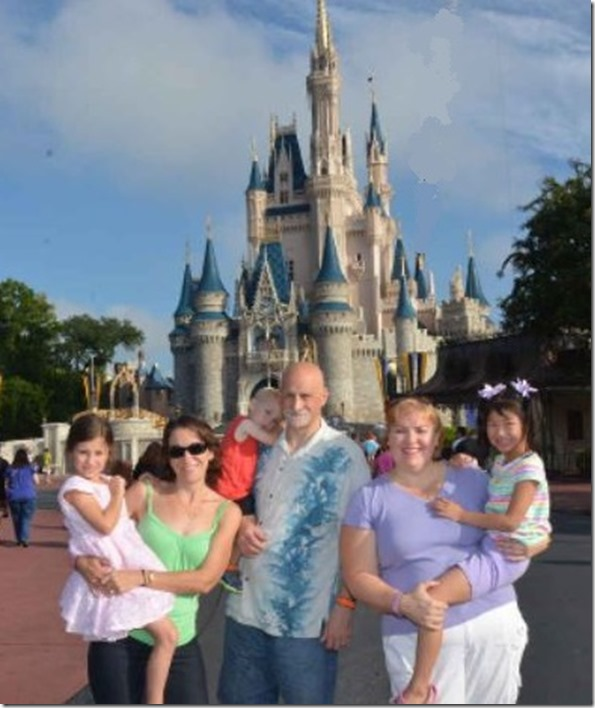 Family pic in front of the castle - Copy
