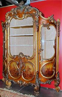 Роскошная Итальянская витрина XIX век. 27000 евро.