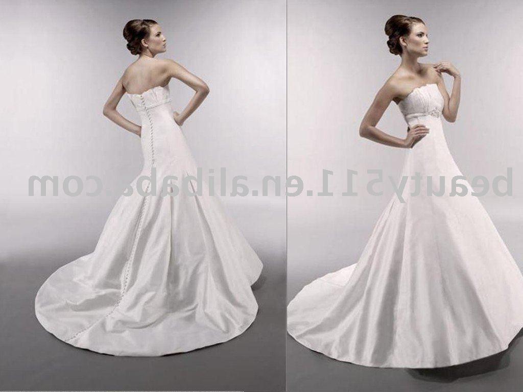 2010 formal ivory satin wedding dress SL512
